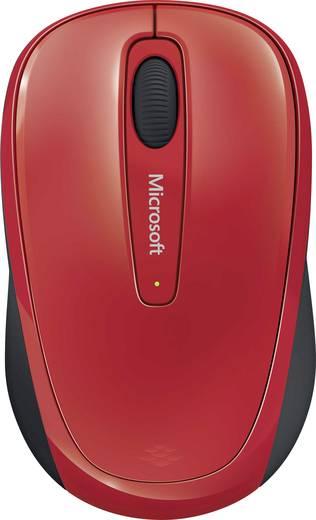 Microsoft Mobile Mouse 3500 USB-Maus BlueTrack Schwarz, Rot