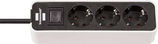 Brennenstuhl 1153230020 Steckdosenleiste mit Schalter 3fach Weiß/Schwarz Schutzkontakt