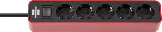 Brennenstuhl 1153250070 Steckdosenleiste mit Schalter 5fach Rot/Schwarz Schutzkontakt
