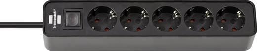 Brennenstuhl 1153250000 Steckdosenleiste mit Schalter 5fach Schwarz Schutzkontakt