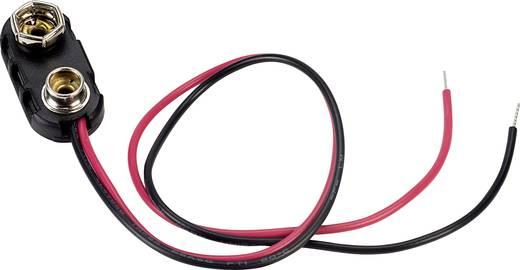 Batterieclip 1x 9 V Block Druckknopfanschluss (L x B x H) 24.5 x 11.8 x 7.3 mm TRU COMPONENTS 18-0093