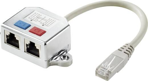 RJ45 Netzwerk T-Adapter CAT 5e [2x RJ45-Buchse - 1x RJ45-Stecker] 0.15 m Metall Renkforce
