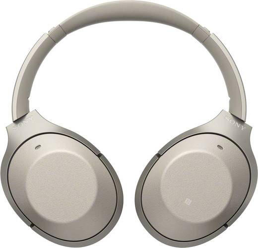 Sony WH-1000XM2 Bluetooth® Reise Kopfhörer Over Ear Headset, NFC, Noise Cancelling Gold