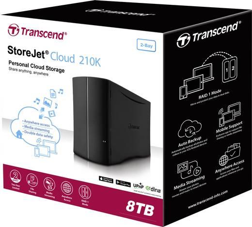 Transcend StoreJet® Cloud 210 TS8TSJC210K NAS-Server 8 TB