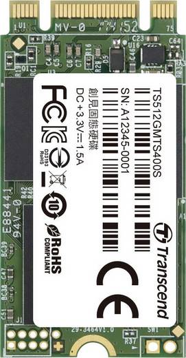 Interne SATA M.2 SSD 2242 512 GB Transcend MTS400S Retail TS512GMTS400S M.2