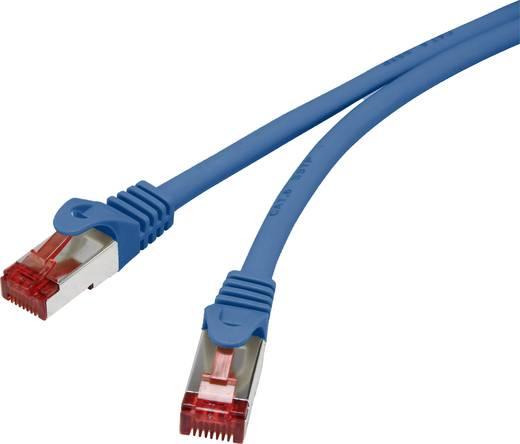 Renkforce RJ45 Netzwerk Anschlusskabel CAT 6 S/FTP 20 m Blau mit Rastnasenschutz, vergoldete Steckkontakte, Flammwidrig