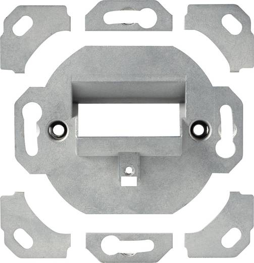 Netzwerkdose Wand Einsatz mit Zentralplatte und Rahmen CAT 6a 2 Port Renkforce NDU-6503 Alpinweiß (9003)