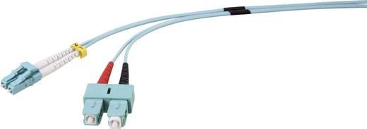 Renkforce Glasfaser LWL Anschlusskabel [1x LC-Stecker - 1x SC-Stecker] 50/125µ Multimode OM3 3 m