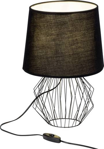 Tischlampe LED E27 60 W Brilliant Noris 54148/06 Schwarz