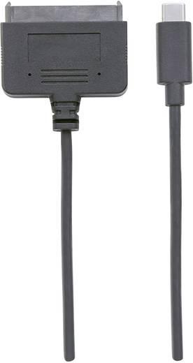 Festplatten Anschlusskabel [1x USB 3.1 Stecker C - 1x SATA-Kombi-Buchse 7+15pol.] 26 cm Schwarz Manhattan
