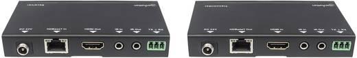 HDMI™, LAN (10/100/1000 MBit/s), RS232 Extender (Verlängerung) über Netzwerkkabel RJ45 Manhattan HDMI-Signalverlängerung