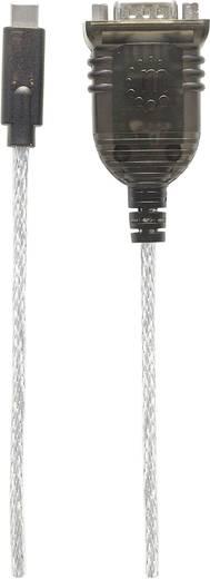 Seriell Adapterkabel [1x USB 3.1 Stecker C - 1x Seriell (9 pol.)] 0.45 m Schwarz, Silber Manhattan
