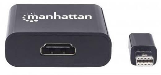 Manhattan Mini-DisplayPort Adapter [1x Mini-DisplayPort Stecker - 1x HDMI-Buchse] Schwarz Geschirmt, UL-zertifiziert