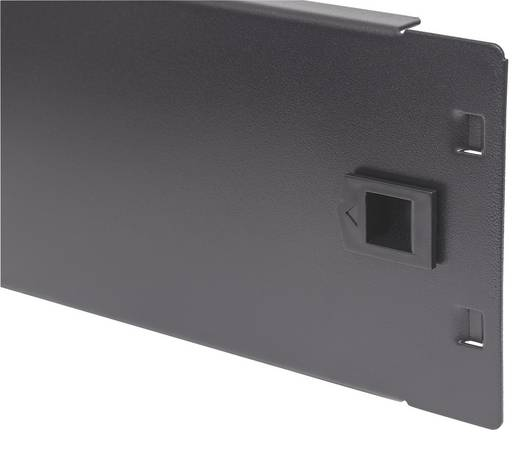19 Zoll Netzwerkschrank-Blindabdeckung 2 HE Intellinet 714341 Geeignet für Schranktiefe: ab 450 mm Schwarz (RAL 9005)