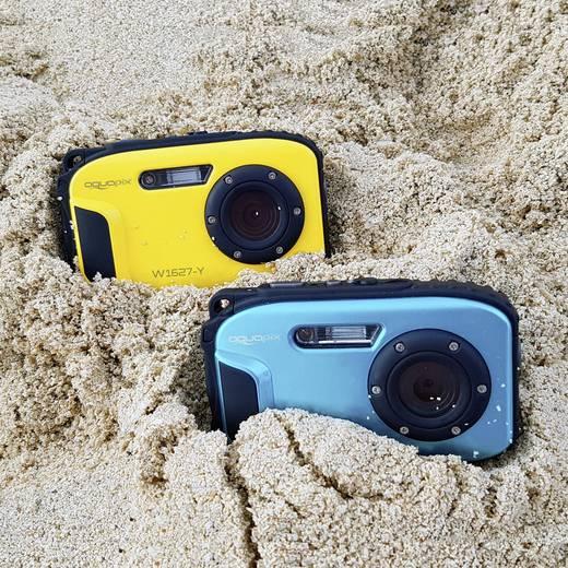 Easypix W1627 Iceblue Digitalkamera 16 Mio. Pixel Blau Unterwasserkamera, Stoßfest, Staubgeschützt