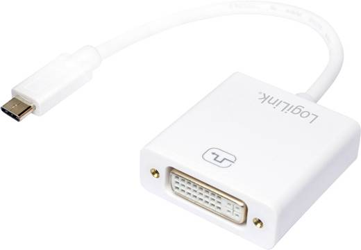 LogiLink USB / DVI Adapter [1x USB 3.1 Stecker C - 1x DVI-Buchse 24+5pol.] Weiß