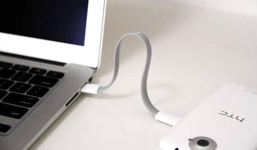 LogiLink USB 2.0 Kabel [1x USB 2.0 Stecker A - 1x Micro-USB-Stecker] 0.22 m Grün Magnet an den Kabelenden
