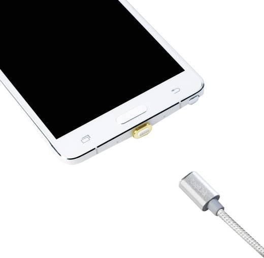 Micro USB 2.0 Adapter Gold magnetischer Stecker LogiLink