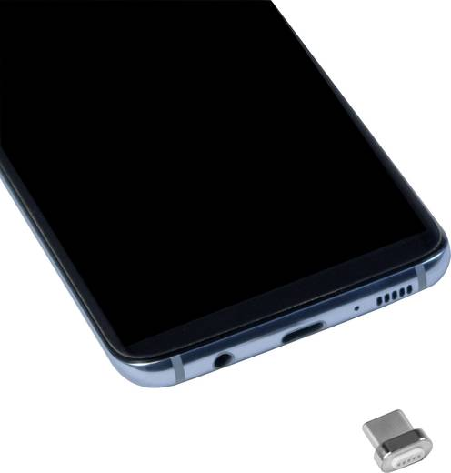 USB 2.0 Stecker C Adapter Silber magnetischer Stecker LogiLink