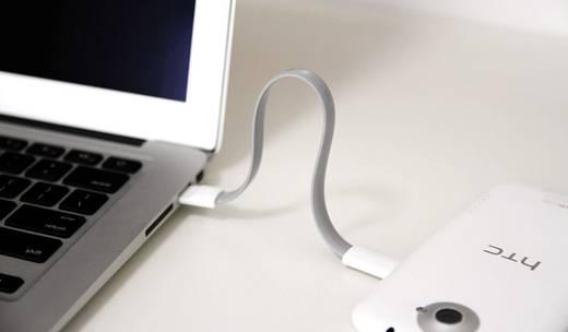 LogiLink USB 2.0 Kabel [1x USB 2.0 Stecker A - 1x Micro-USB-Stecker] 0.22 m Blau Magnet an den Kabelenden