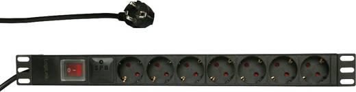 19 Zoll Netzwerkschrank-Steckdosenleiste 1 HE Schutzkontaktsteckdose LogiLink PDU7C01 Aluminium Profil, mit Schalter, F