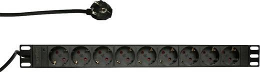 LogiLink PDU9C03 19 Zoll Netzwerkschrank-Steckdosenleiste 1 HE Schutzkontaktsteckdose Schwarz
