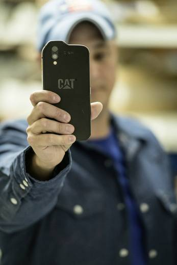 CAT S61 Hybrid-Slot Outdoor Smartphone 13.2 cm (5.2 Zoll) 2.2 GHz Octa Core 64 GB 16 Mio. Pixel Android™ 8.0 Oreo Schwar