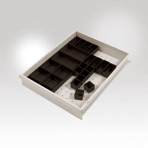 Manuflex Schubfachbehälter-Set leitfähig schwarz für Blendenhöhe: 100-300 mm 49 x 49 x 40 mm 1 VE=10 Stück LZ3051