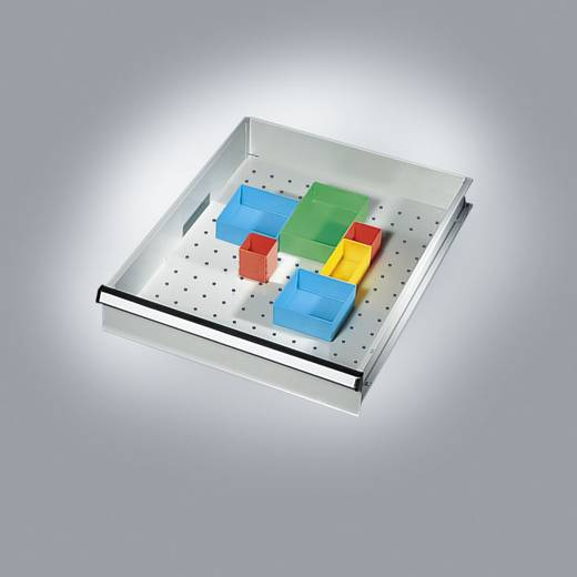 Manuflex ZB3055 Schubfach-Behälter 108x108x45 blau