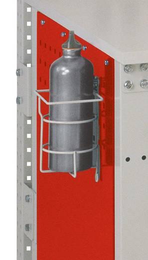 Manuflex ZB3573 Flaschenhalter RAL7035 mit 2 Befestigungsösen Epoxydharz beschichtet B-125 x T- 100 mm
