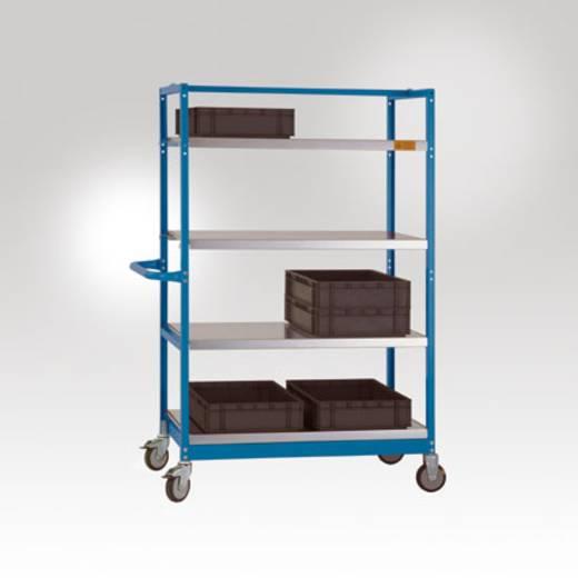 Regalwagen Stahl pulverbeschichtet Traglast (max.): 250 kg Licht-Grau Manuflex LV3112.7035