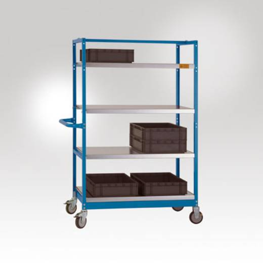 Regalwagen Stahl pulverbeschichtet Traglast (max.): 250 kg Manuflex LV3112.7035