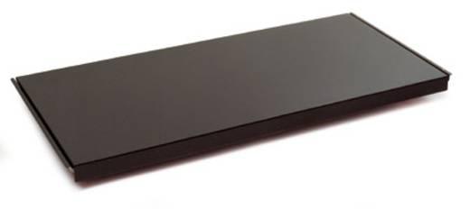 Fachboden (B x H x T) 1000 x 40 x 400 mm Stahlblech pulverbeschichtet Grau-Grün Stahlblechboden Manuflex RF0152.0001
