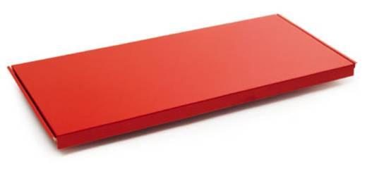 Fachboden (B x H x T) 1000 x 40 x 600 mm Stahlblech pulverbeschichtet Rubin-Rot Stahlblechboden Manuflex RF0194.3003