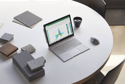 Microsoft Surface Book 2 Windows®-Tablet / 2-in-1 38.1 cm (15 Zoll) 256 GB Wi-Fi Silber Intel Core i7 1.9 GHz Quad Core
