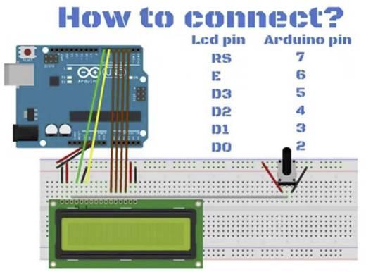 Arduino Display 16x2 LCD Modul Grün