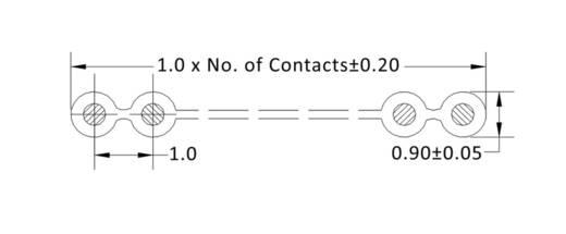 Flachbandkabel Rastermaß: 1 mm 25 x 0.08 mm² Grau econ connect 28AWG25RM1 30.50 m