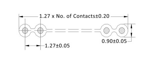 Datenleitung Rastermaß: 1.27 mm 26 x 0.08 mm² Grau econ connect 28AWG26GR 30.50 m