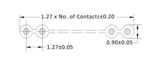 Datenleitung Rastermaß: 1.27 mm 10 x 0.08 mm² Grau econ connect 28AWG10GR 30.50 m