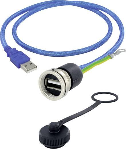 USB 2.0 Typ A Chassisbuchse, Einbau M16 encitech Inhalt: 1 St.