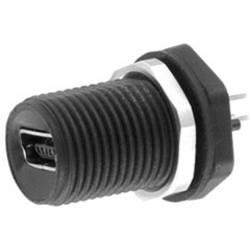 Mini-B USB vstavateľná zásuvka encitech 1310-0008-01, čierna, 1 ks