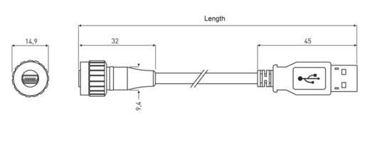 USB 2.0 Kabel [1x USB 2.0 Stecker Mini-B - 1x USB 2.0 Stecker A] 3 m Schwarz-Blau encitech