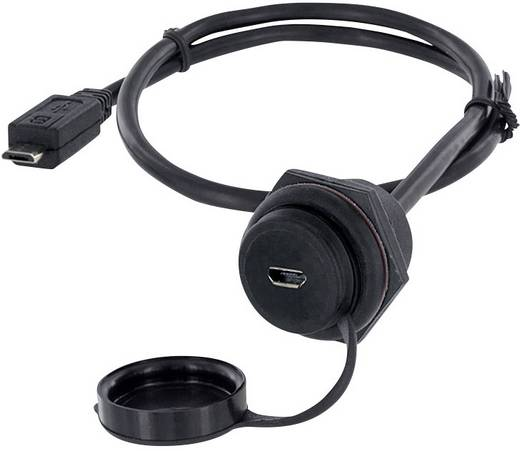 USB 2.0 Buchse Micro-B Chassisbuchse, Einbau 1310-1027-04 M30 encitech Inhalt: 1 St.
