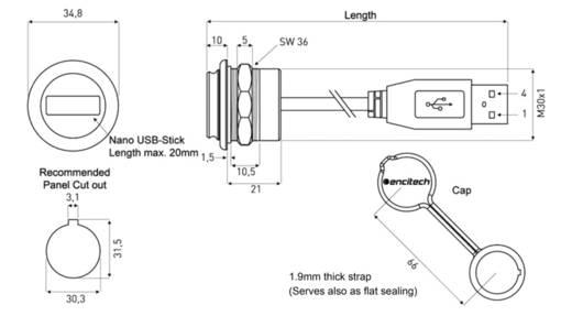 Chassisbuchse, Einbau 1310-1037-02 M30 encitech Inhalt: 1 St.
