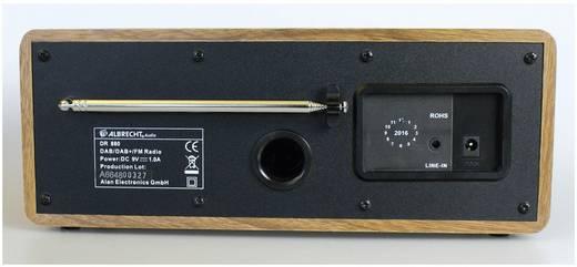 Albrecht DR 880 DAB+ Tischradio AUX, DAB+, UKW Holz