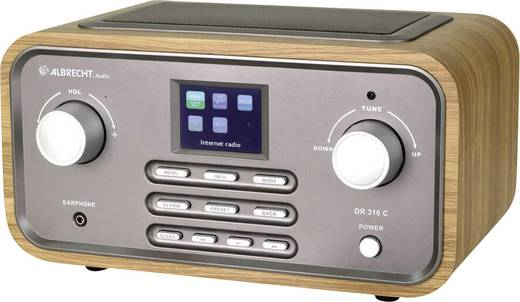 Internet Tischradio Albrecht DR 316 C AUX, DAB+, UKW, WLAN, Internetradio Holz