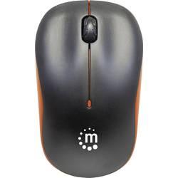 Optická bezdrôtová myš Manhattan Success 179409, čierna, oranžová