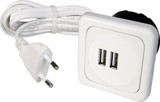 inprojal elektrosysteme 9016-008.81 2fach USB-Ladesteckdose mit USB ...