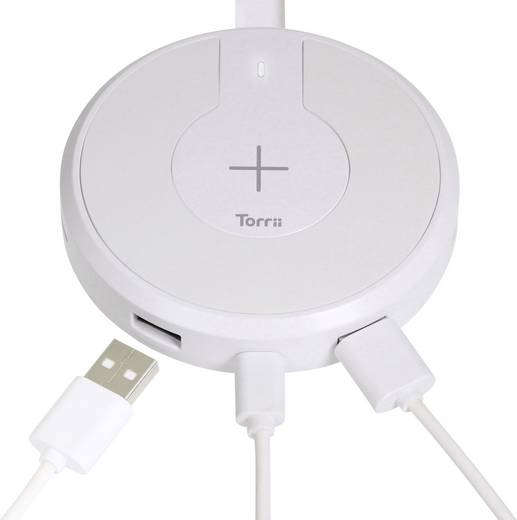 Torrii Induktions-Ladegerät TorriiBolt TBT-WCH-V12 Ausgänge Induktionslade-Standard, USB, USB-C™ Buchse Weiß