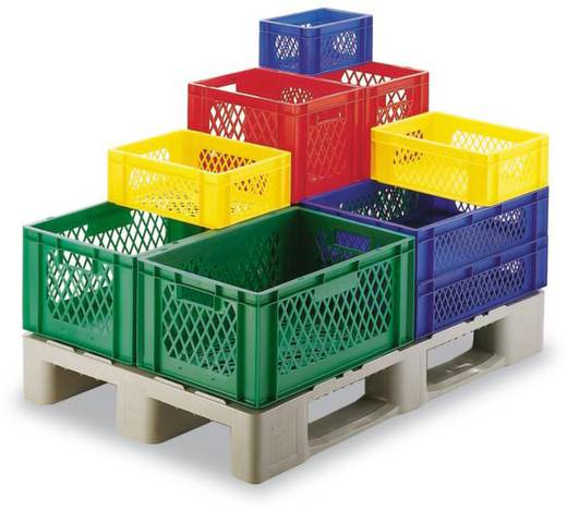 Stapelbehälter lebensmittelgeeignet (L x B x H) 400 x 300 x 270 mm Blau Favorit TK 400/270-1 4 St.
